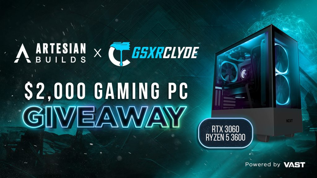 online contests, sweepstakes and giveaways - GSXRCLYDE   $2,000 Gaming PC Giveaway - Vast   Expand Your Reach